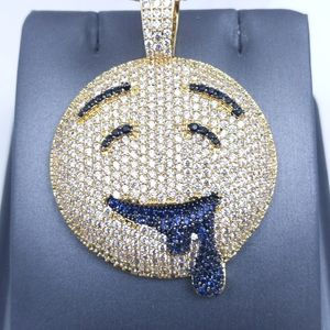 """Icy Gold Drooling Emoji+ 20"""" Rope Chain"""